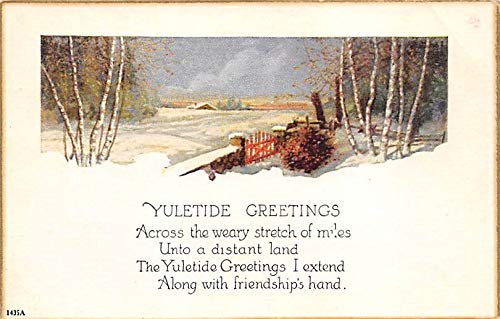 Christmas Holiday Postcard Vintage Xmas Post Card Writing on back