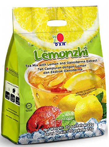 MUST BUY ! 15 Pack DXN Lemonzhi Tea Mix with Ganoderma Extract ( Total : 300 sachets x 22g ) by DXN