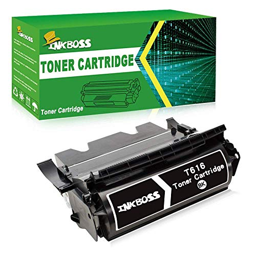 InkBoss T616 Toner Cartridge Compatible for Lexmark Optra T616, T616n Printers, (High Yield, Black)