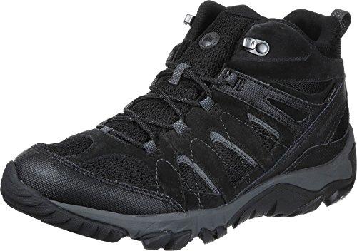 Merrell scarpe da trekking Moab FST GTX Nero Nero Gore-Tex Outdoor - J35759 Nero (Nero J09505)