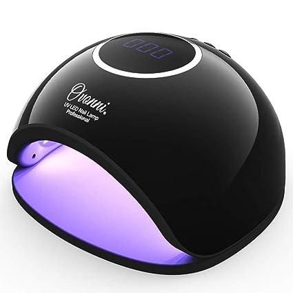 Ovonni - Lámpara 48W de LED UV profesional con secador de Uñas, Sensor automático incorporado
