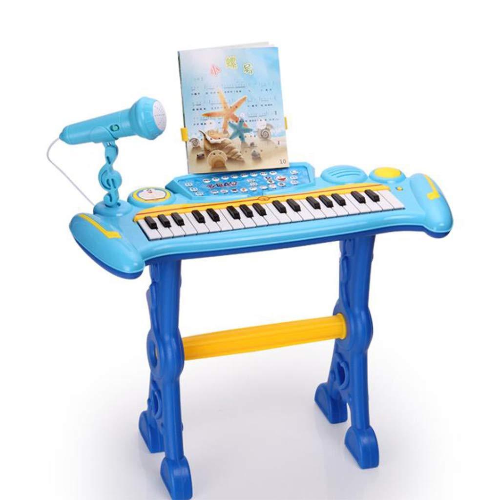 hermoso Promoción por tiempo limitado LINGLING-Piano Piano Piano Piano Educacion Infantil Puzzle con Micrófono Teclado Juguete (Color : Azul)  ofreciendo 100%