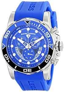 "Swiss Legend Men's 21368-03 ""Avalanche"" Stainless Steel Watch with Blue Silicone Band"
