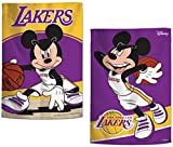 WinCraft NBA LA Lakers Garden Flag, Disney Mickey Mouse Edition, 12.5 x 18 inches, 2 sided print
