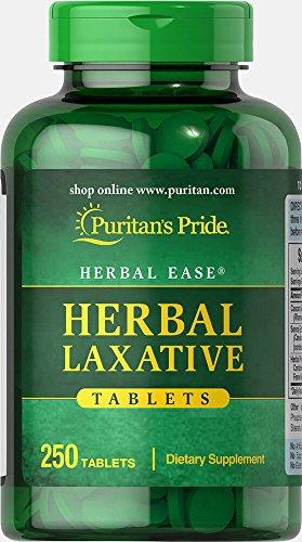 Puritan's Pride Herbal Laxative-250 Tablets - Psyllium Husk Laxative