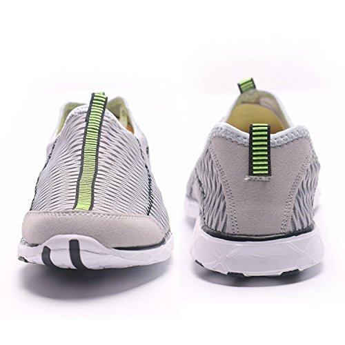 Earsoon Slip On Trainer Water Shoes Mesh Outdoor 2 in 1 Slip On Sports with Breathable Sole for Unsexual Men Women Running Walking Lightgrey 93tzVB