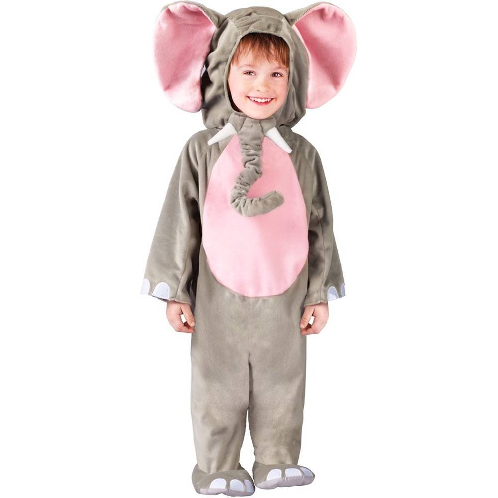 Fun World Costumes Baby's Cuddly Elephant Toddler Costume Grey Toddler 3T-4T FunWorld 116931