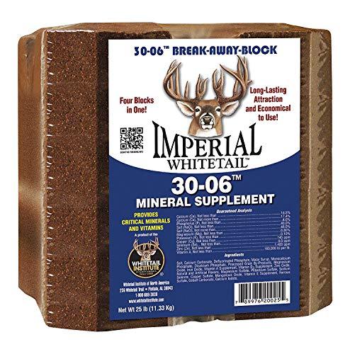 (Whitetail Institute Men's Break-Away Deer Block Mineral Supplement, 25 lb)