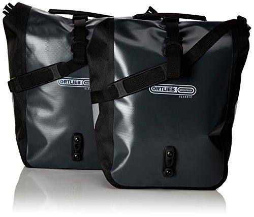 Ortlieb Back Roller - Ortlieb Front-Roller Classic QL2.1 Panniers (pair) ASPHALT-BLACK #F6305