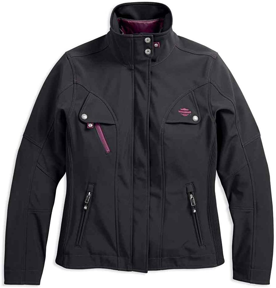Black 97231-18VW Harley-Davidson Womens Rosslyn Insulated Riding Jacket