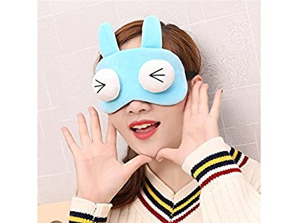 Máscara de hielo Cute Cartoon Sleep Eye Mask Eyeshade Blocks Out Light Blindfold (Blue)
