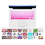 """HRH Hot Pink Gradient Series Silicone Keyboard Cover Keyboard Skin for All MacBook Air 13"""", MacBook Pro with Retina Display 13""""15"""" 17"""" Macbook 13"""" Unibody"""
