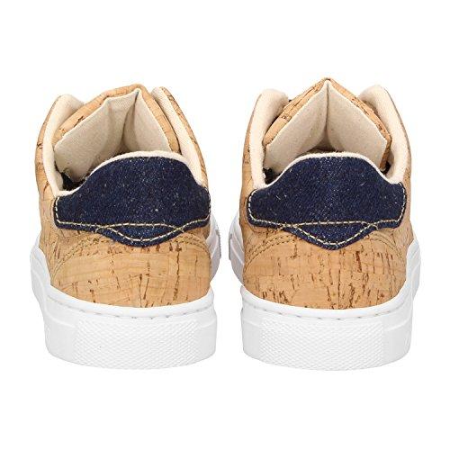 kork ZWEIGUT jeansblau Mujer ZWEIGUTEcht Zapatillas casa de 401 pzq801pS