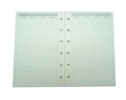 amazon com planner refill pocket notebook binder refills a7