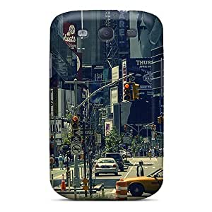 New Life In New York Tpu Case Cover, Anti-scratch Cynthaskey Phone Case For Galaxy S3