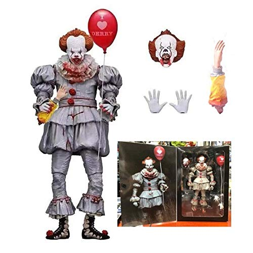 WOIA 2 Type Stephen King's It Pennywise Clown Horror Action Figure Toy Doll Halloween Day Holiday Must Haves Friendship Gifts Toddler Favourite Superhero Cake Topper UNbox Game