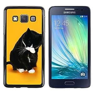 Be Good Phone Accessory // Dura Cáscara cubierta Protectora Caso Carcasa Funda de Protección para Samsung Galaxy A3 SM-A300 // Funny Lol Wtf Cat