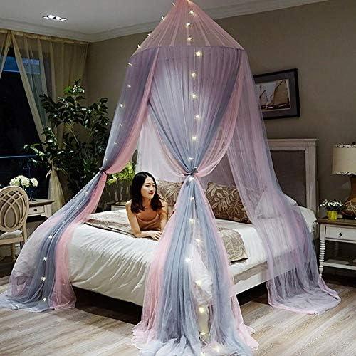 蚊帳屋内竹繊維の折りたたみ夏には、効果的に蚊ハエの咬傷からあなたを守り、100%、180 * 200センチメートル,紫の