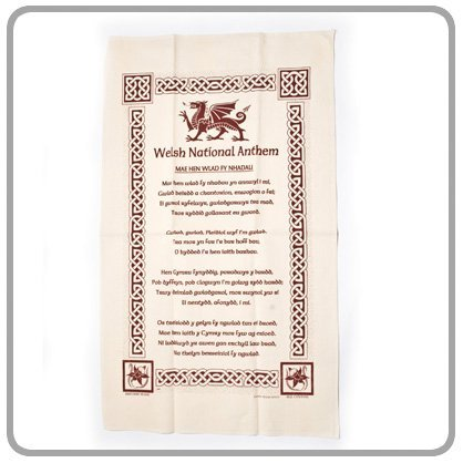 Amazon com: 'Welsh National Anthem' Tea Towel by Gifts From