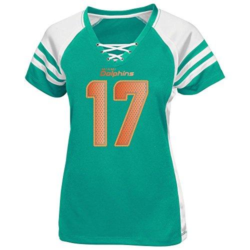 Ryan Tannehill Miami Dolphins Womens Aqua Draft Him IV Jersey V-Neck T-shirt db4c5b74c