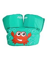 Stearns Puddle Jumper Basic Life Jacket,  Aqua Crab, 30-50 lbs