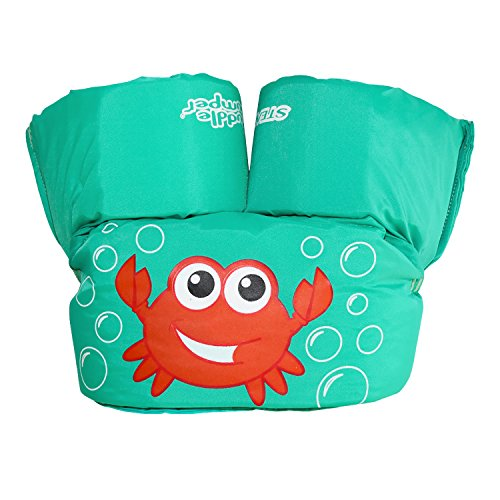 Grow Regular Neck - Stearns Puddle Jumper Child Life Jacket, Blue Crab