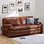 Furny Bretanny 3 Seater Leatherette Sofa (Brown)