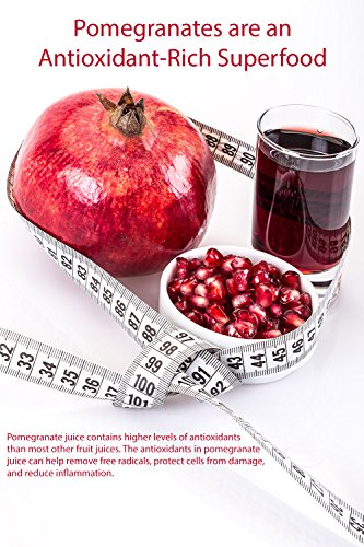 100% Organic Pomegranate Juice - 4 Pack - 33.8 fl oz - USDA Certified - Glass Bottle - No Sugar Added - No Preservatives - Squeezed From Fresh Pomegranates by Blue Ribbon (Image #2)