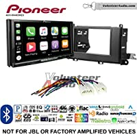 Volunteer Audio Pioneer AVH-W4400NEX Double Din Radio Install Kit with Wireless Apple CarPlay, Android Auto, Bluetooth Fits 2011-2014 Non Amplified Toyota Sienna