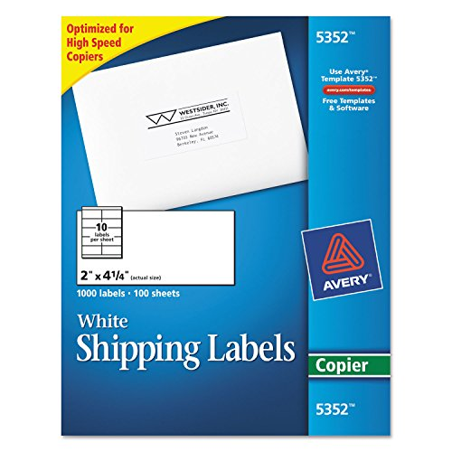 AVE5352 - Avery Self-Adhesive Shipping Labels for - Label Shipping Electronic