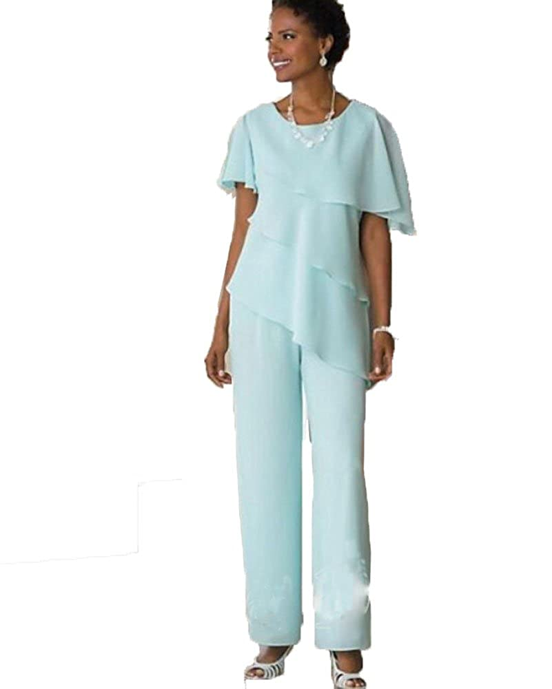 Did Women Wear Pants in the 1920s? Yes! sort of… Blevla Two Pieces Chiffon Mother of The Bride Pant Suits $119.99 AT vintagedancer.com