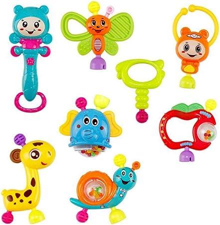 Image of Bebé confunde Mordedor Shaker Agarrar y vuelta Sonajero Musical Set primeros juguetes educativos de infantil del bebé recién nacido Style-C 8pcs