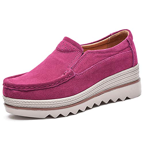 Chaussure Chnhira Rose Femmes Casual Creepers Plate Gothique Rouge Forme Punk Hq80rw6UPq