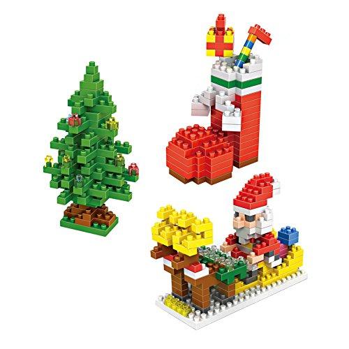 LOZ Christmas Set Pack of 3 Diamond Nanoblock Educational Toy 460pcs
