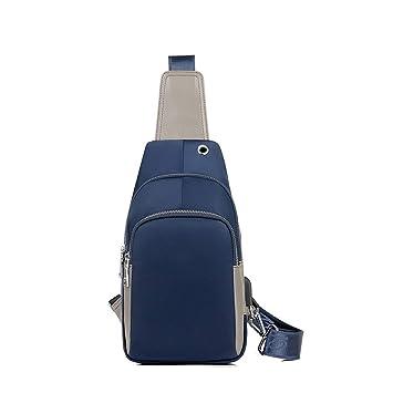 Byx Travel Leisure, Mochila pequeña, Inteligente, con Carga USB, una Sola Pieza, Hombres, Azul y Azul (Color : 1#): Amazon.es: Hogar