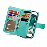 Leather Wallet Phone Case iPhone 6,iPhone 6S with Built-in 9 Card Slots,Gostyle New
