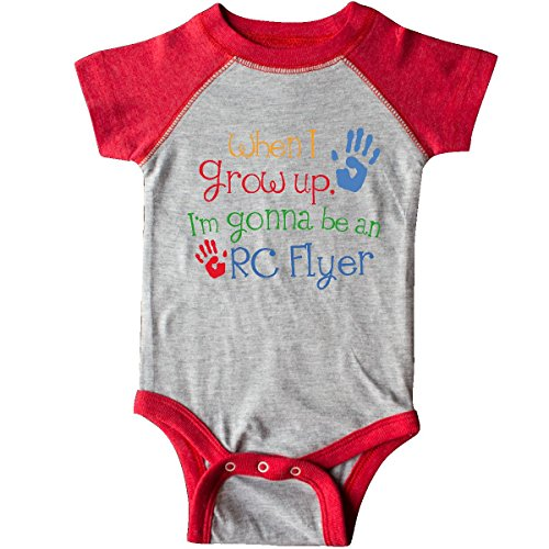 inktastic RC Flyer Kid Infant Creeper Newborn Heather and Red