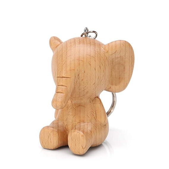 ZHANGYANA] Llavero de madera con diseño de dibujos animados ...
