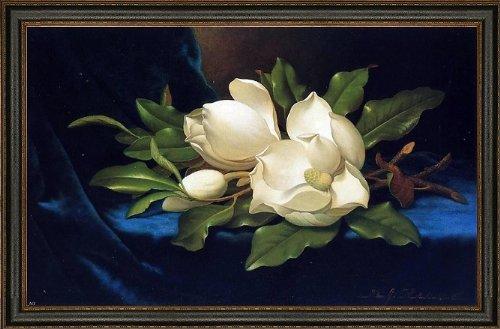 (Art Oyster Martin Johnson Heade Giant Magnolias on a Blue Velvet Cloth - 18.05
