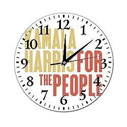 Kamala Harris for The People White Wall Clock Silent no tick Quality Wall Clock no tick, no Border 10 inch Wall Clock, Home Wall Clock