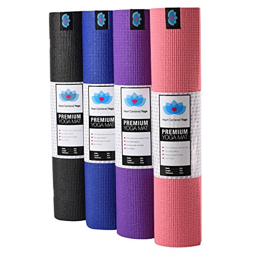 Heart Centered Yoga Mat: Non-Slip, Eco-friendly, and Non-Toxic Memory Foam. Made Extra-Thick, Durable, and Long. 24