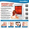 CHOICEMMED Infrared Light Heat Lamp for Back Pain, Muscle Pain, Arthritis, Knee Pain, Joint Pain, Neck Pain, Shoulder Pain - 300w IR Lamp Light Therapy - Safe Shut Off Pain Management IR Heat Therapy