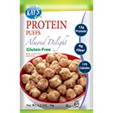 Kay's Naturals Protein Puffs, Almond Delight, Gluten-Free, Low Carbs, Low Fat, All Natural Flavorings, 1.2 Ounce (Pack of 6)