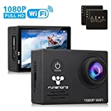 Underwater Wi-Fi Action Camera By Funshare, Waterproof Sports Camera for Swimming, Cycling and Snorkelling, HD 1080P 14 Mega Pixels Resolution 170° Angle Lens Mountable Durable Batteries (Black)