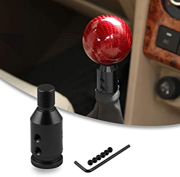 RYANSTAR Shift knob Shifter Adapter Universal for Non Threaded Shifters M12/×1.25,for BMW//Mini//VW//Jeep Black