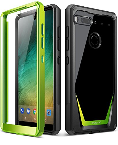 Essential Phone PH-1 Case, Poetic Guardian [Revised Version] [Scratch Resistant] [360 Degree Protection] Full-Body Rugged Clear Bumper Case with Built-in-Screen Protector for Essential PH-1 Green