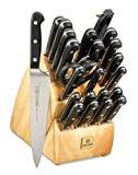Mundial 5100 Series 24-Piece Knife Set with Block, Black