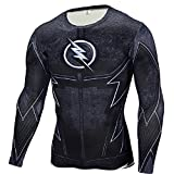 Cosfunmax Superhero Shirt Compression Sports Shirt Runing Fitness Gym Short/Long Sleeve Base Layer L
