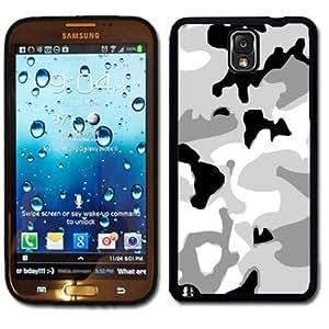Samsung Galaxy Note 3 Black Rubber Silicone Case - Arctic Digi Camo camoufladge snow Kimberly Kurzendoerfer