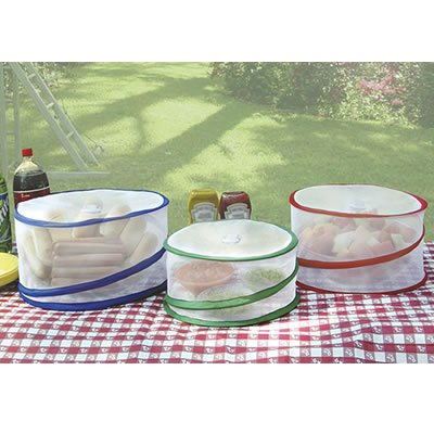Trademark Innovations Food Cover, Set of 3, Clear ()